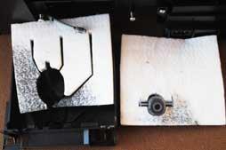waste ink pad inside the printer