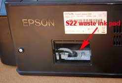 waste ink pads epson printer s22