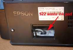waste ink pads epson printer s22